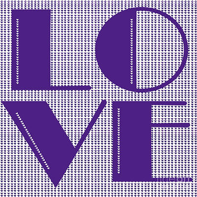 Love In Purple Print by Liesl Marelli