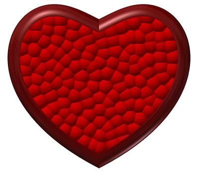 Relief Digital Art - Love In Red Love by Alberto RuiZ