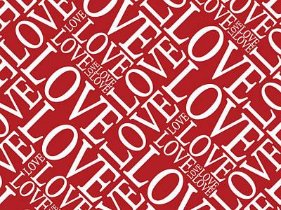 Kiss Digital Art - Love In Red by Michael Tompsett