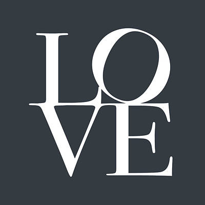 Love In Slate Grey Print by Michael Tompsett