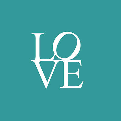 Painting - Love In Teal by Celestial Images