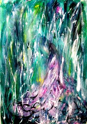 Painting - Love In The Rain#3 by Wanvisa Klawklean