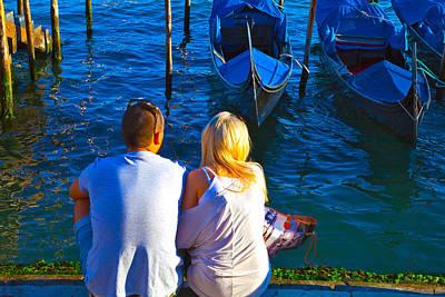 Venice Photograph - Love In Venice by Jean-luc Bohin