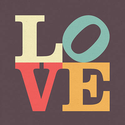 Cafe Art Digital Art - Love Poster by Taylan Apukovska