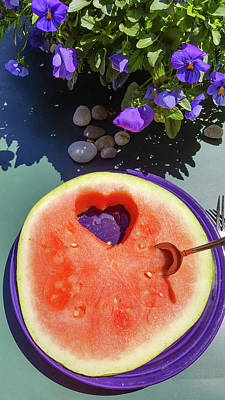 Photograph - Love In Watermelon by Lynn Hansen