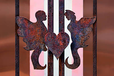 Love In Wrought Iron Art Print by Nikolyn McDonald