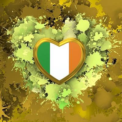 Flag Digital Art - Love Ireland by Alberto RuiZ