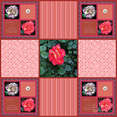 Photograph - Love Is 9 Square Quilt Design by Bobbee Rickard