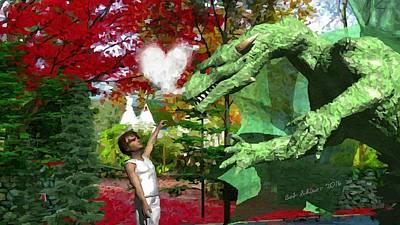 Digital Art - Love Is A Dragon by Bob Shimer