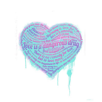Graffiti Mixed Media - Love Is A Drug by Simon Sturge