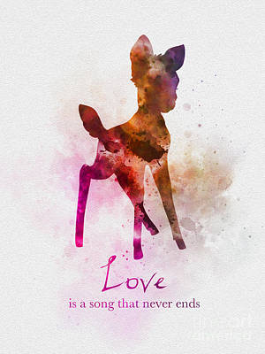 Mixed Media - Love Is A Song That Never Ends by Rebecca Jenkins