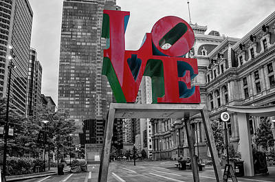 Photograph - Love Is All Around - Philadelphia - Selective Color by Bill Cannon