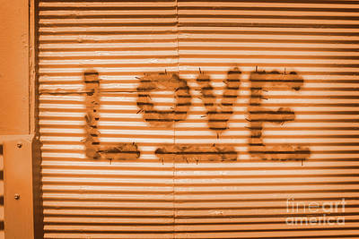 Words Background Photograph - Love Is All by Jorgo Photography - Wall Art Gallery