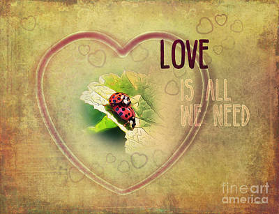 Digital Art - Love Is All We Need by Jutta Maria Pusl