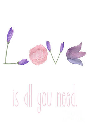 Painting - Love Is All You Need by D Renee Wilson