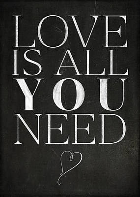 Love Is All You Need Art Print by Teresa Mucha