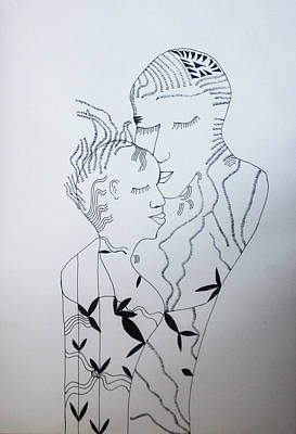 Drawing - Love Is Bliss by Gloria Ssali