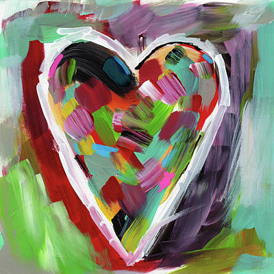Colorful Mixed Media - Love Is Colorful 3- Art By Linda Woods by Linda Woods