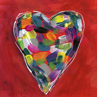 Love Is Colorful - Art By Linda Woods Print by Linda Woods