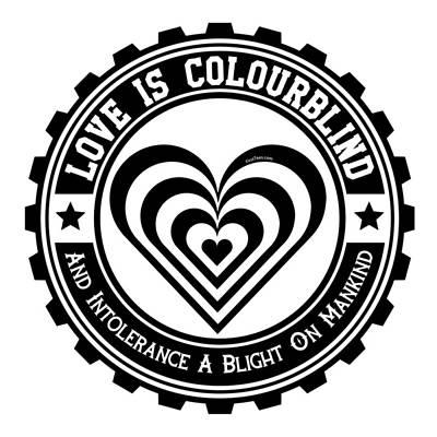Love Is Colourblind  Art Print by FirstTees Motivational Artwork