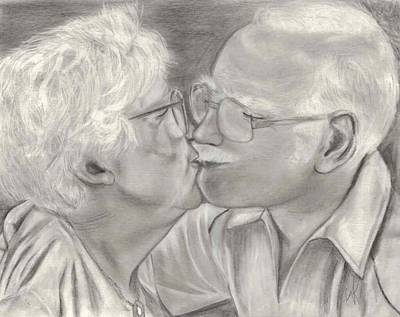 Annette Kinship Wall Art - Drawing - Love Is In The Air by Annette Kinship