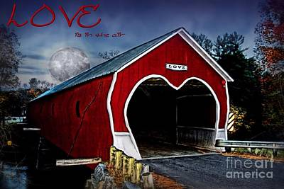 Print featuring the photograph Love Is In The Air by DJ Florek