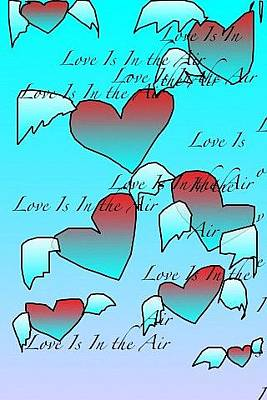 Digital Art - Love Is In The Air by Rae Chichilnitsky