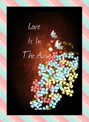 Digital Art - Love Is In The Air by Sherry Flaker