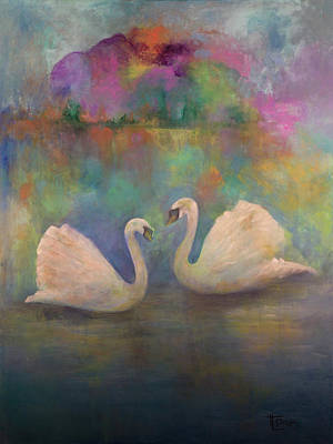 Lakefront Painting - Love Is In The Air by Terri Davis