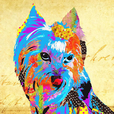 Watercolor Pet Portraits Mixed Media - Love Is In The Dog's Eyes  by Stacey Chiew
