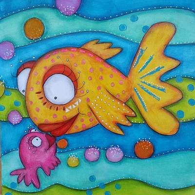Mixed Media - Love Is In The Sea by Barbara Orenya