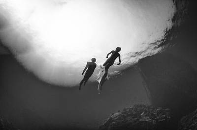 Trash The Dress Photograph - Love Is In The Water 2 by Adolfo Maciocco