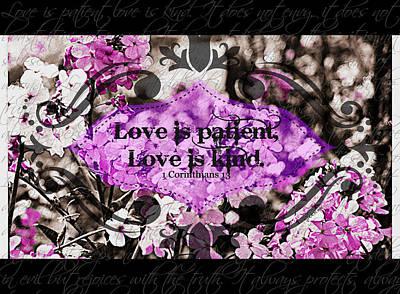 Digital Art - Love Is Kind by Christine Nichols