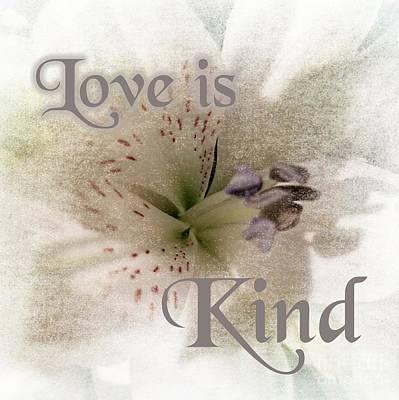 Digital Art - Love Is Kind by Rachel Hannah