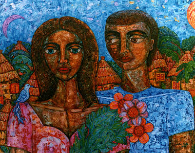 El Amor Painting - Love Is Like A Bird by Madalena Lobao-Tello