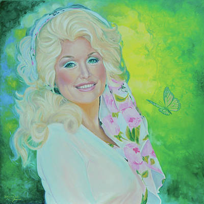 Painting - Love Is Like A Butterfly - Dolly Parton by Maria Modopoulos