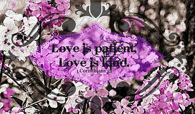 Digital Art - Love Is Patient by Christine Nichols