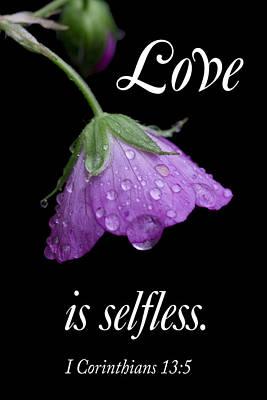 Love Is Selfless Art Print