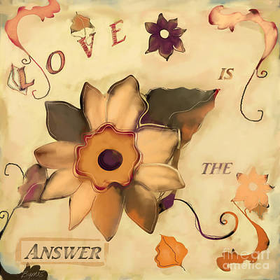 Painting - Love Is The Answer by Carrie Joy Byrnes