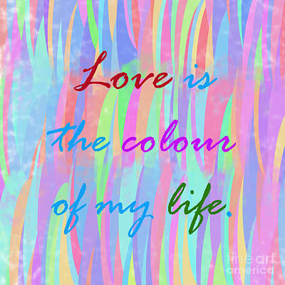 Digital Art - Love Is The Colour by Susan Stevenson