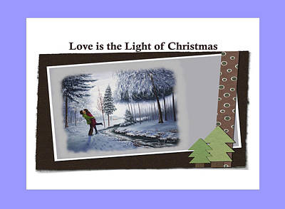 Painting - Love Is The Light Of Christmas by Saeed Hojjati