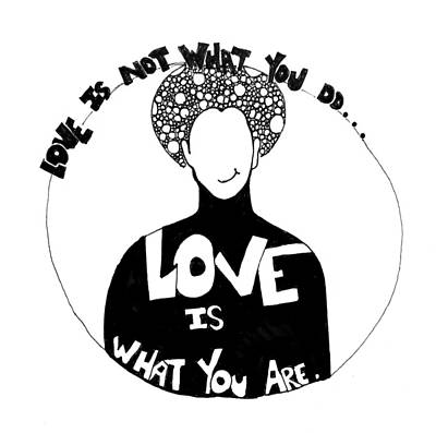 Black Is Beautiful Wall Art - Drawing - Love Is What You Are by Sara Young
