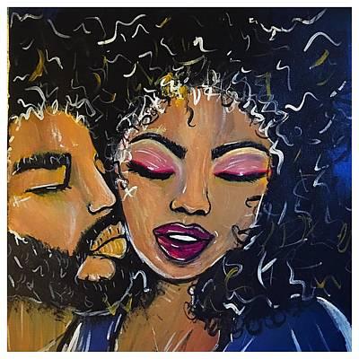 Woman Painting - Love Jones by Allison's Gallery