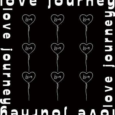 Burnt Digital Art - Love Journey by Tommytechno Sweden