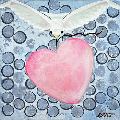 Painting - The Blessing Of The Dove by Julie Davis Veach