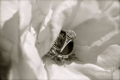 Floral Engagement Ring Photograph - Love by Kaira Burt