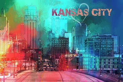 American City Scene Mixed Media - Love Kansas City by Terry Davis
