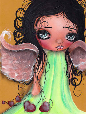 Fairy Art Painting - Love Keeper by  Abril Andrade Griffith