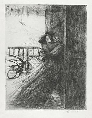 Drawing - Love - La Femme Series by Paul-Albert Besnard