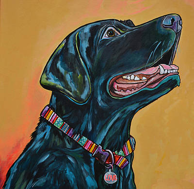 Love Lab Art Print by Patti Schermerhorn